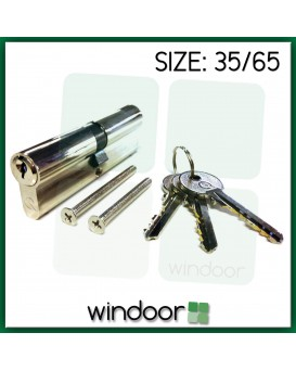 35 / 65 Cylinder Door Lock Nickel / Silver - Key / Key