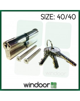 40 / 40 Cylinder Door Lock Nickel / Silver - Key / Key