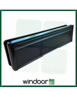 "10"" Paddock Welseal uPVC Panel Type Letterbox / Letterplate - Black / Black"