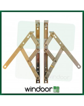 "10""  Top Hung Window Friction Hinge (Pair) - 13mm Stack Height - Securistyle Defender"