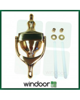 "6"" Victorian Urn Door Knocker – Polished Brass"