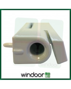 115mm White Flat Butt Door Hinge - Avocet