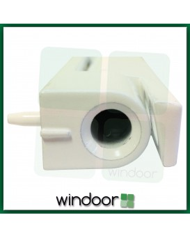 115mm White Angled Butt Door Hinge - Avocet
