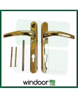 Hoppe Atlanta Door Handle Polished Gold / Brass - Lever / Lever (92PZ)