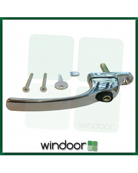 GreenteQ Inline Polished Chrome Espag Window Handle