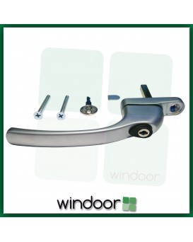 GreenteQ Inline Anodised Silver Espag Window Handle