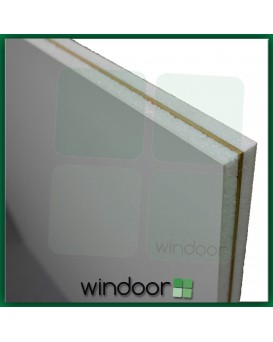 White uPVC Flat MDF Reinforced Door Panel - 28mm