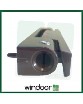 115mm Dark Brown Angled Butt Door Hinge - Avocet